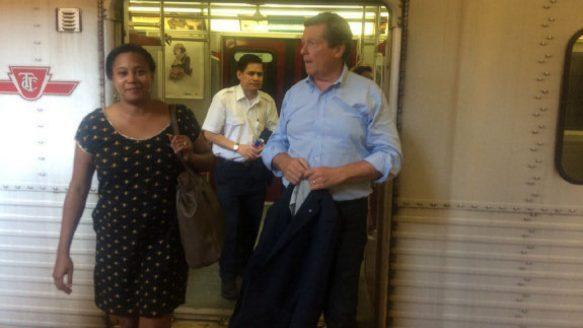 John Tory takes sweaty subway ride without air conditioning